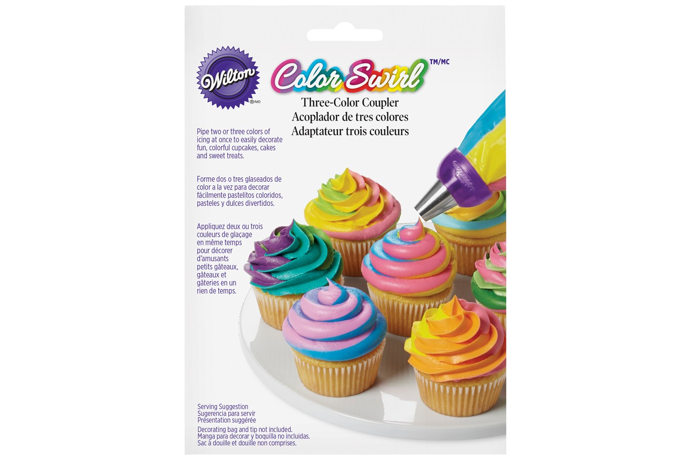multicoloured piping icing nozzle coupler