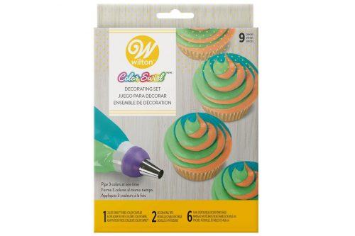 multicoloured icing nozzle set